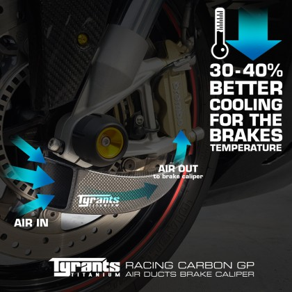 Tyrants Racing Carbon GP Air Ducts Brake Caliper Includes Mounting Bracket Kit