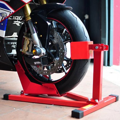 Motorcycle Front Wheel Chock Self Locking Stand