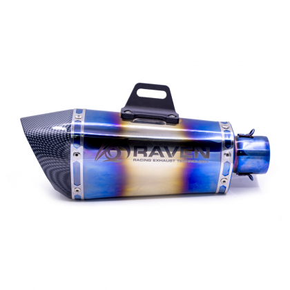 Akra Shorty Blue 51mm SS Muffler
