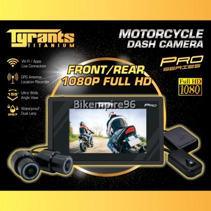 Tyrants Titanium Motorcycle PRO Dash Cam Version