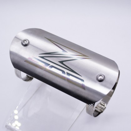 Exhaust Pipe Protector Plate Stainless Steel Silver (Z900 Logo)
