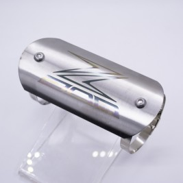 Exhaust Pipe Protector Plate Stainless Steel Silver (Z800 Logo)