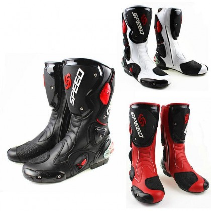 Speed Motorcycle Riding Boots (Hi Cut)