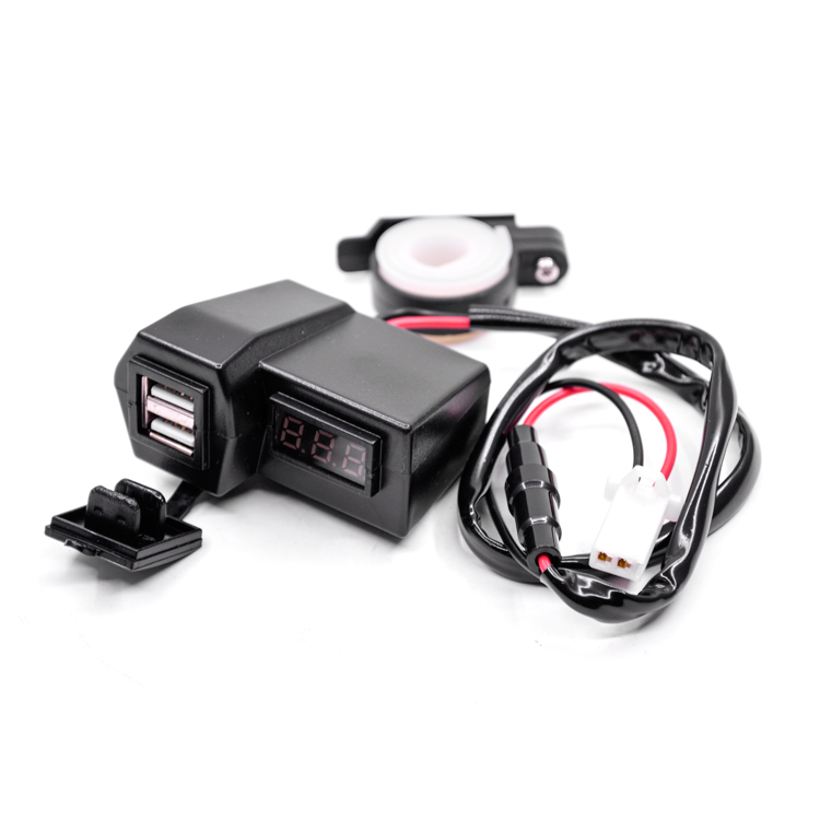 Motorcycle USB Charger + Voltmeter